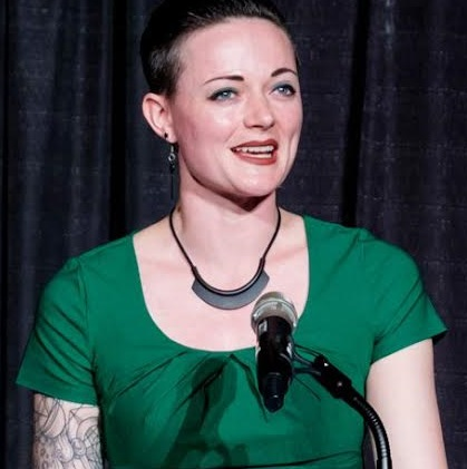 Photo of Caroline Murphy speaking at an event